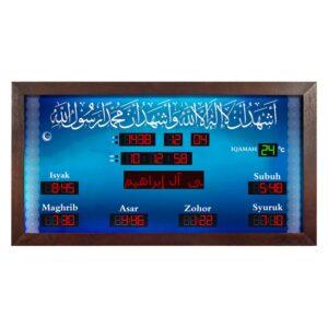 jam azan iman masjid biru